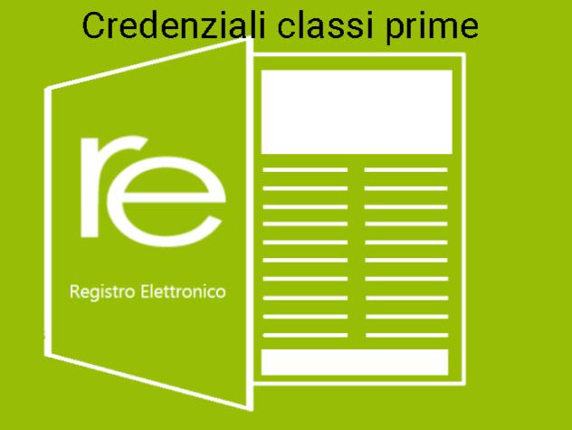 Credenziali registro elettronico classi prime